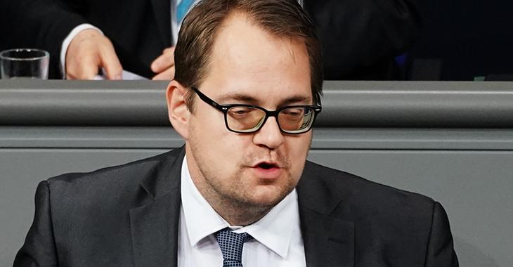 Sören Pellmann im Plenum des Bundestages