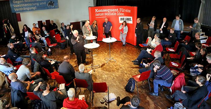 Diskussionsrunde beim Mietenratschlag in Köln am 28.10.2016