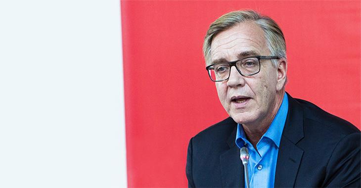Dietmar Bartsch bei der Fraktionsklausur im Oktober 2017 in Potsdam