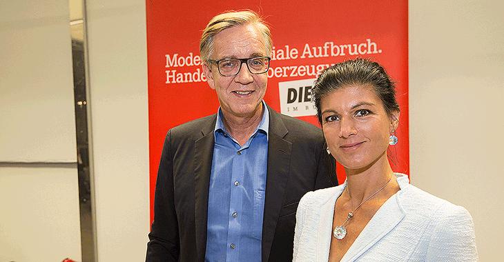 Fraktionsklausur in Potsdam: Dietmar Bartsch und Sahra Wagenknecht