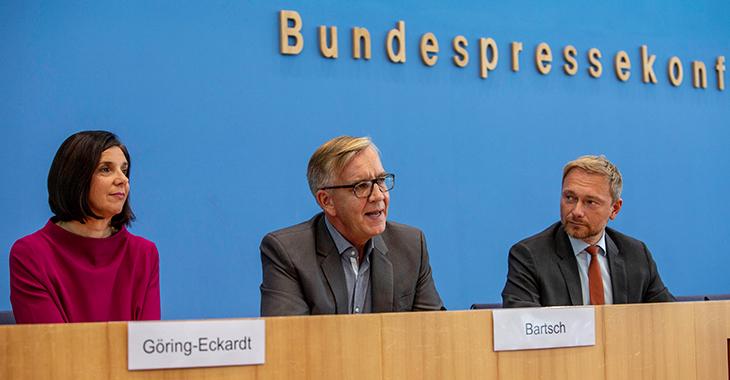BPK mit Dietmar Bartsch, Christian Lindner und Kathrin Göring-Eckardt zur gemeinsamen Abstrakten Normenkontrollklage gegen das neue bayerische Polizeiaufgabengesetz