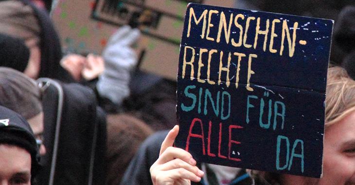 70 Jahre Allgemeine Erklärung der Menschenrechte Foto: Flickr/Rasande Tyskar