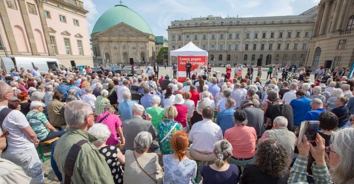 Lesen gegen das Vergessen am 10. Mai 2018 auf dem Berliner Bebelplatz