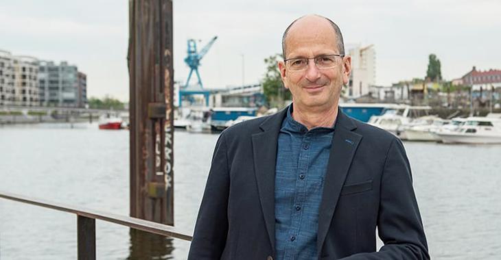 Achim Kessler auf der Offenbacher Hafeninsel