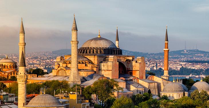 Die Moschee Hagia Sophia in Istanbul