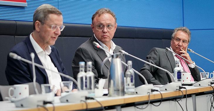 Michael Harms (li.) und Klaus Ernst (re.)