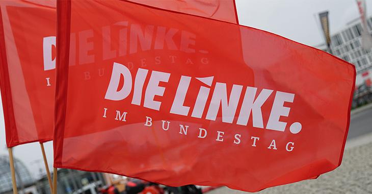 Fahne Linksfraktion im Bundestag