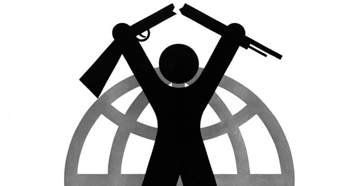 Symbol für Internationale Abrüstung der Vereinten Nationen aus dem Jahre 1982 © UN Photo