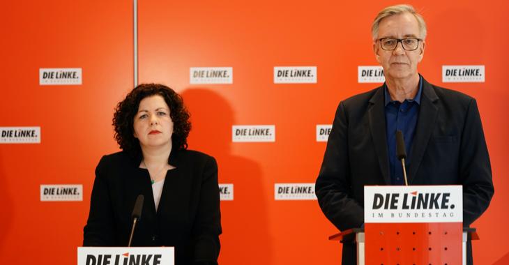 Pressestatement mit Amira Mohamed Ali und Dietmar Bartsch