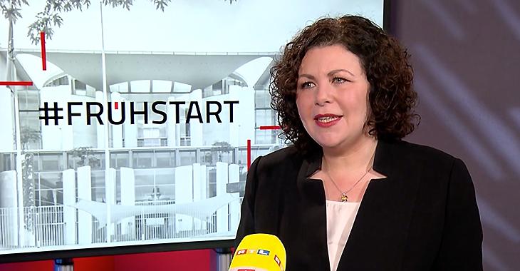 Amira Mohamed Ali im ntv-Frühstart-Interview