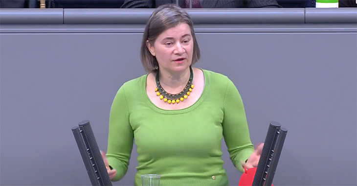 Anke Domscheit-Berg im Plenum