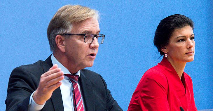 Dietmar Bartsch und Sahra Wagenknecht © Bernd von Jutrczenka/dpa