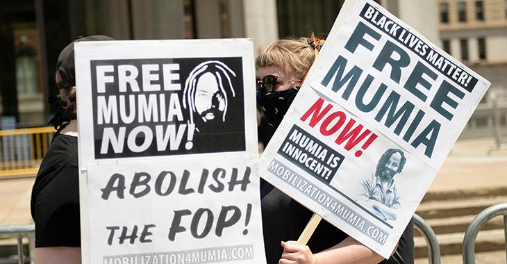 Demonstration für die Freilassung von Mumia Abu Jamal ©ddp/ZUMA/Ricky Fitchett