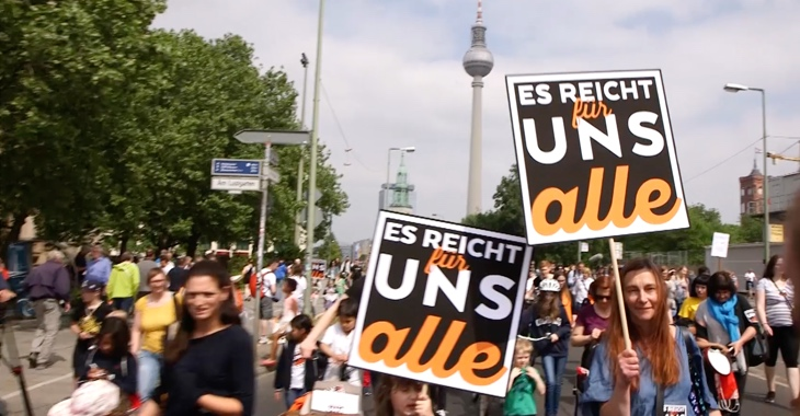 Demo »Es reicht für uns alle« gegen Kinderarmut am 12. Mai 2018 in Berlin