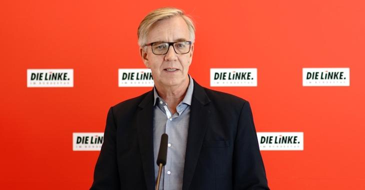 Dietmar Bartsch beim Pressestatement