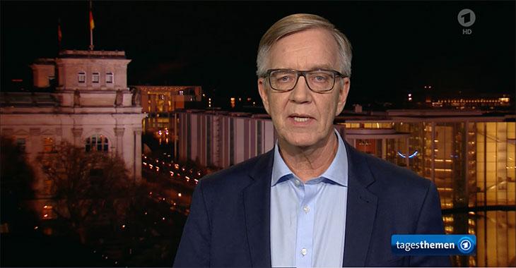 Dietmar Bartsch in den ARD Tagesthemen