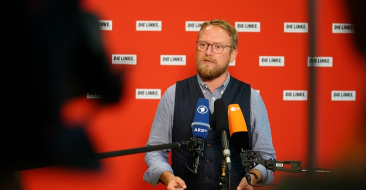 Pressestatement mit Jan Korte