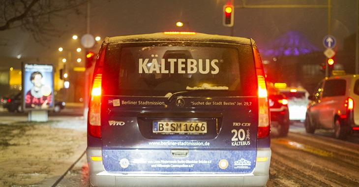 Ein Berliner Kältebus im Einsatz © dpa