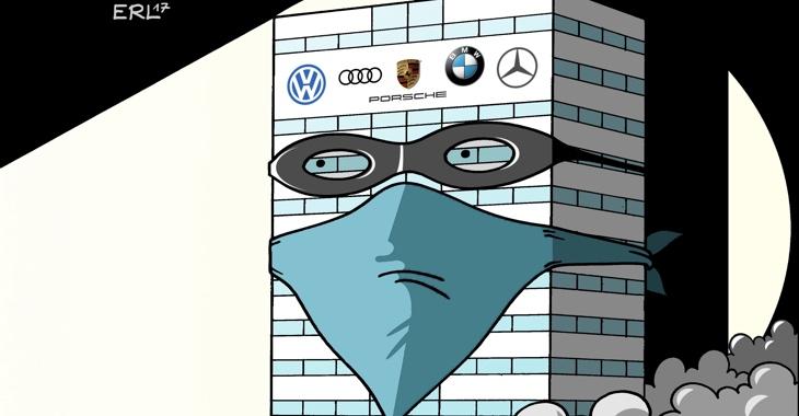 Karikatur: Autokartell - Erwischt © picture alliance/dieKLEINERT.de