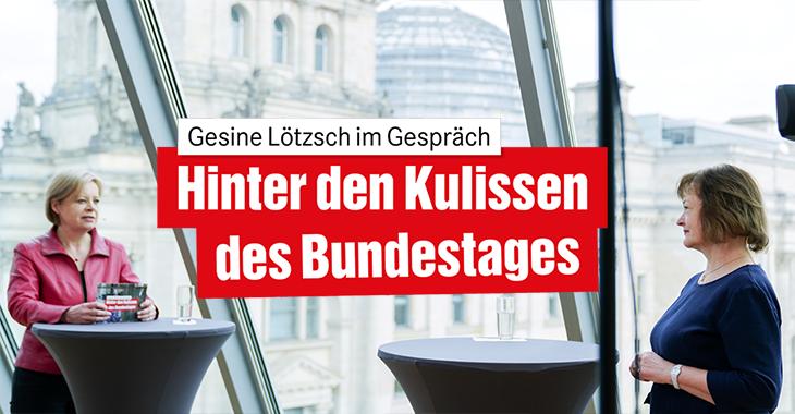 """""""Hinter den Kulissen des Bundestages"""" mit Gesine Lötzsch und Kerstin Kassner"""