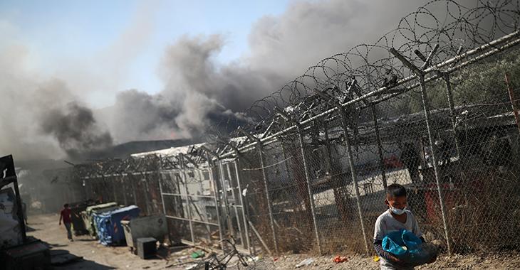 Nach der Brandkatastrophe im Flüchtlingslager Moria @Reuters/Alkis Konstantinidis