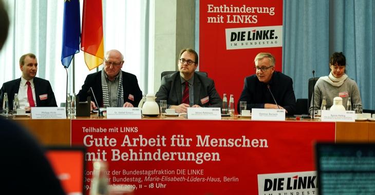 Sören Pellmann und Dietmar Bartsch bei der Anhörung »Gute Arbeit für Menschen mit Behinderung«