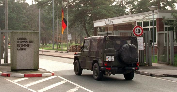 Eingangstor der Rommel-Budneswehrkaserne © dpa