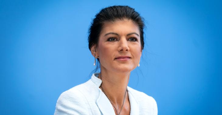 Sahra Wagenknecht in der Bundespressekonferenz @ ddp images/Henning Schacht