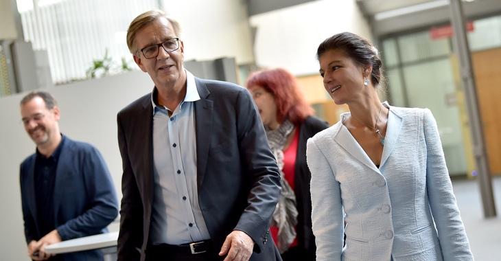 Sahra Wagenknecht und Dietmar Bartsch © dpa/Britta Pedersen