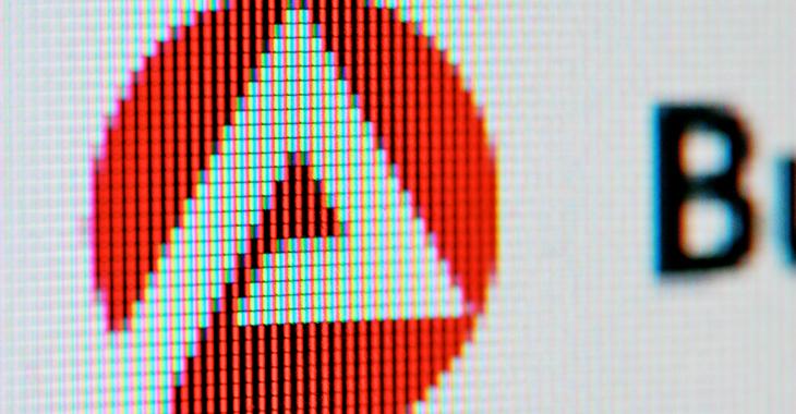 Arbeitsamt: Logo der Bundesagentur für Arbeit auf einem Computerbildschirm