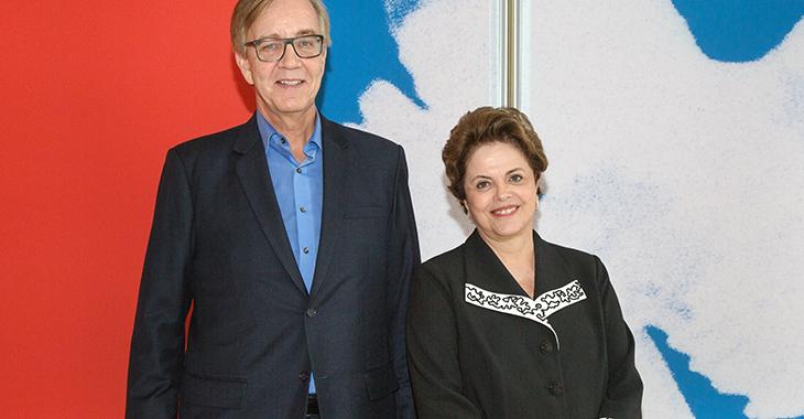 Dietmar Bartsch und Dilma Roussef, ehemalige Präsidentin Brasiliens