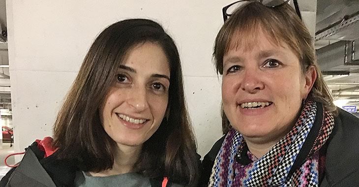 Erleichtert: Mesale Tolu und Heike Hänsel in Istanbul