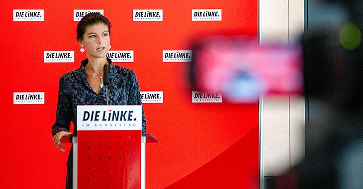 Pressestatement mit Sahra Wagenknecht