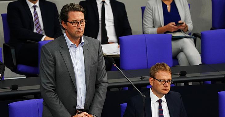 Noch auf der Regierungsbank: Verkehrsminister Andreas Scheuer (CSU)