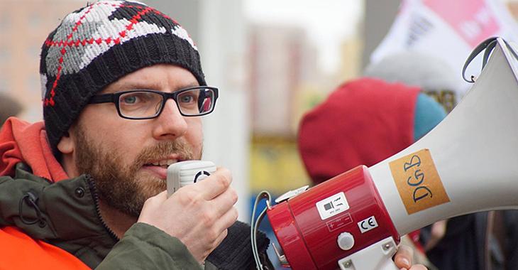 Streikt für einen neuen Tarifvertrag: Fabian Schmidt