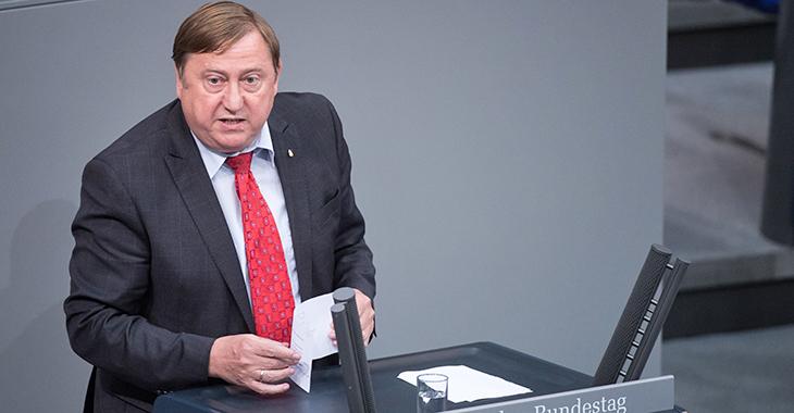 André Hahn während einer Rede im Bundestag