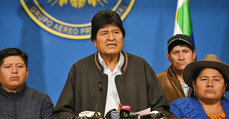 Evo Morales erklärt seinen Rücktritt