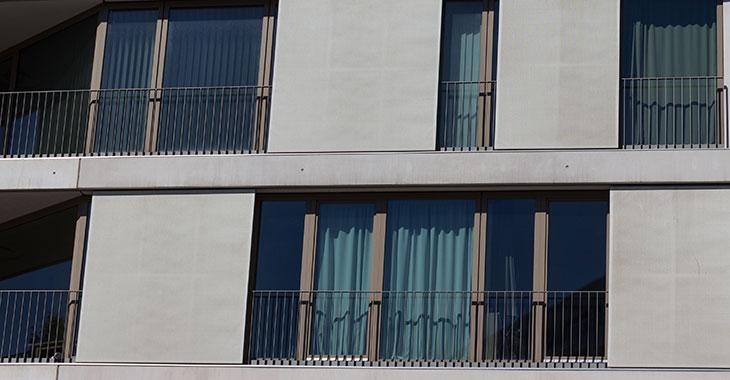 Fassade von Luxuswohnungen