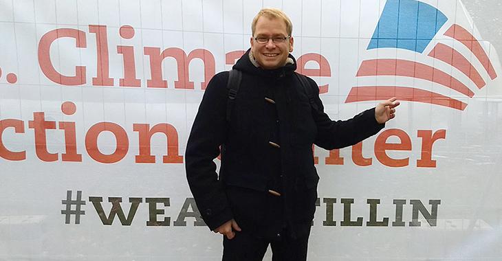 Lorenz Gösta Beutin bei der Weltklimakonferenz in Bonn