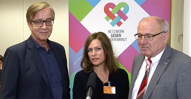 Netzwerk gegen Kinderarmut: Dietmar Bartsch, Nina Kronjäger und Heinz Hilgers