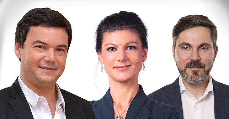 Thomas Piketty, Sahra Wagenknecht und Fabio De Masi