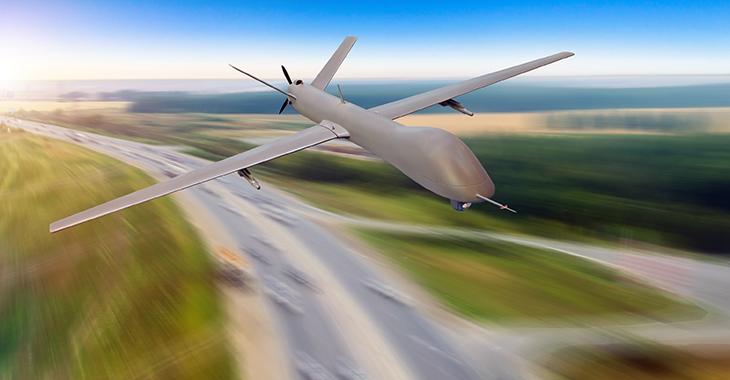 Todbringende Drohne im Anflug