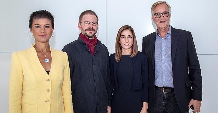 Sahra Wagenknecht, Peter Steudtner, Mesale Tolu und Dietmar Bartsch