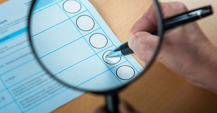 Wahlbogen zur Europawahl
