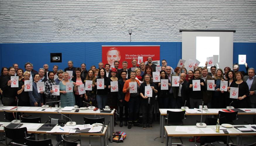 Die Fraktion DIE LINKE. im Bundestag am Red Hand Day