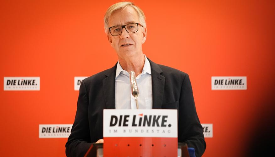 Pressestatement mit Dietmar Bartsch