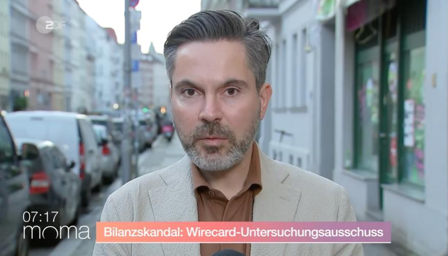 Fabio De Masi am 8. Oktober 2020 im ZDF-Morgenmagazin zur Konstituierung des Wicrecard-Untersuchungsausschuss