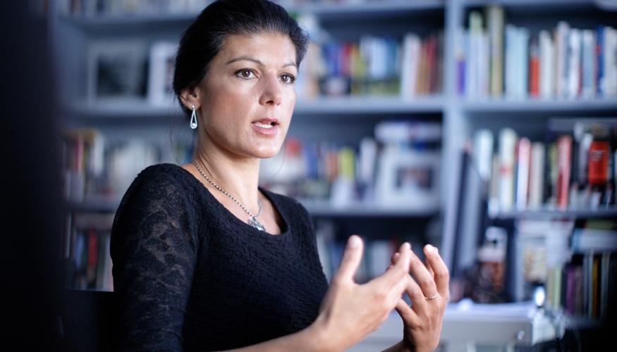Sahra Wagenknecht im Interview © APA/Georg Hochmuth