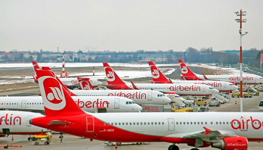Am Boden: Flugzeuge von Air Berlin