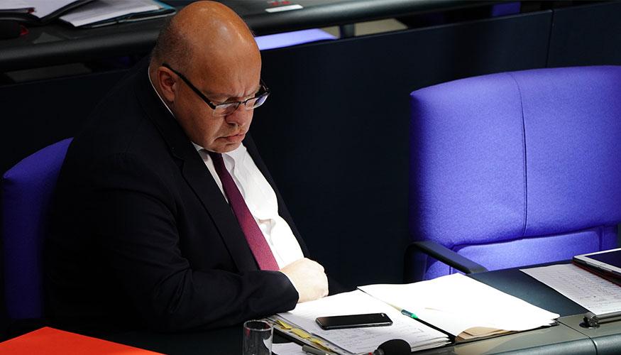 Bundeswirtschaftsminister Peter Altmaier (CDU) auf der Regierungsbank